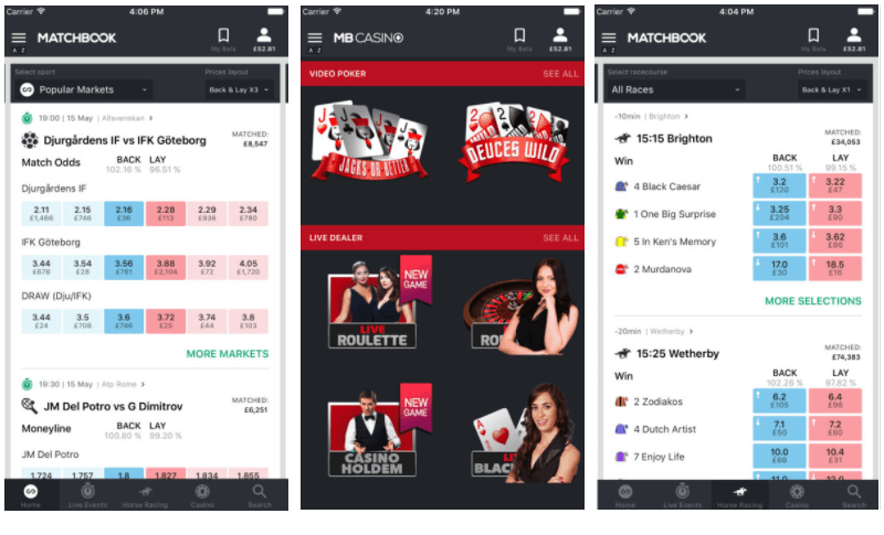 matchbook mobile app