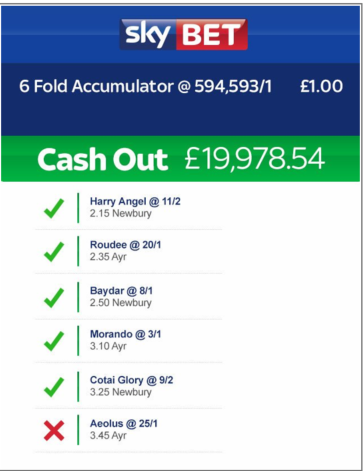 skybet cashout